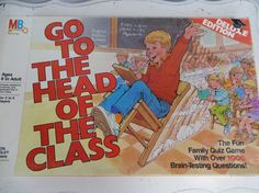 Vintage Board Game, Board Games, Board Game Vintage,   Go to the head of the class, 1980s Board Game, Games board, Vintage games, Unique games  I had this too!