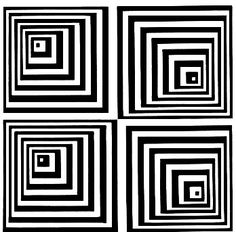 Simple Black and White Pyramid Optical Illusion - http://www.moillusions.com/simple-black-and-white-pyramid-optical-illusion/