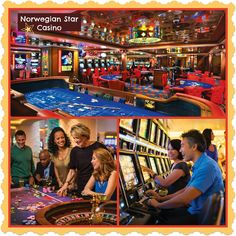 Star Club Casino-on board the Norwegian Star.  This could be your lucky night. Try your hand at one of 158 slot machines. Or play Blackjack, Roulette, Craps and Let It Ride® and enjoy a full service bar.