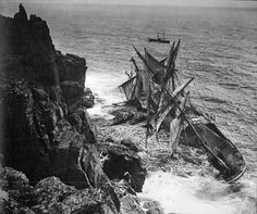 Historic collection of wreck photos bought by National Maritime Museum - Classic Boat Magazine Abandoned Ships, Abandoned Places, World Trade Center Site, Honfleur, Creepy Photos, Unexplained Mysteries, Ghost Ship, Wooden Ship, Le Havre