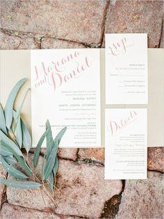 calligraphy inspired wedding invitation @weddingchicks