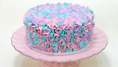 Not a recipe, but what a simple, yet elegant, way to decorate a cake. Must try!
