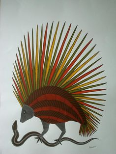 Nature Painting by Bhajju Shyam Nature Paintings, Acrylic Paintings, Art Paintings, Impressive Image, Inuit Art, Indian Folk Art, Madhubani Painting, Applique Quilts, Tribal Art