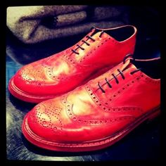 Red ACNE brogues