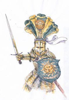 Knight of the Blazing Sun by Rufus-Jr.deviantart.com on @DeviantArt