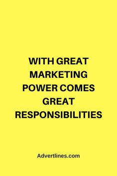 With great marketing power comes great responsibilities.  #Marketing #MarketingTip  #MarketingTips #MarketingSecrets