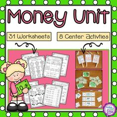 Money Unit (First-Second Grade Math) Summer Activities For Kids, Summer Kids, Math Activities, Classroom Money, Counting Coins, Second Grade Math, Coin Values, First Second, Activity Centers