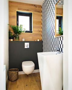Kleines Badezimmer Inspiration 3 Modern Small Bathroom Ideas - Great Bathroom Renovation Ideas That Small Bathroom Inspiration, Bad Inspiration, Bathroom Ideas, Bathroom Colors, Bathroom Designs, Interior Inspiration, Guest Toilet, Downstairs Toilet, Small Toilet Room