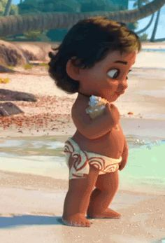 She is very little and very cute ,baby Moana is one of the best baby princesses👸🏽 Moana Disney, Disney Pixar, Disney Animation, Disney And Dreamworks, Disney Magic, Walt Disney World, Disney Princess, Disney Characters, Disney Babys