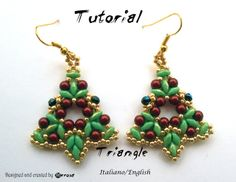 Earrings Triangle (Tutorial color graphics pictures in Italian or in English)