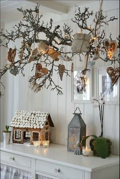 Branches for decorating. Christmas.