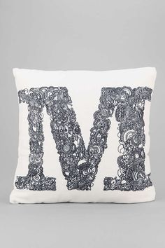 M throw Pillow -like the color
