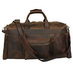 Polare 23 Duffle Retro Thick Cowhide Leather Weekender Travel Duffel luggage Bag >>> Check out this great product. Bags Travel, Duffle Bag Travel, Weekender, Duffel Bags, Messenger Bags, Cowhide Leather, Leather Men, Thick Leather, Vintage Leather