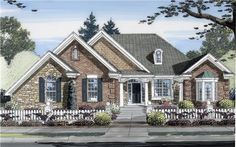 This+lovely+Traditional+style+home+with+Ranch+influences+(House+Plan+#169-1032)+has+2252+square+feet+of+living+space.+The+1+story+floor+plan+includes+3+bedrooms.