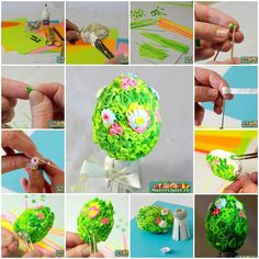 DIY Quilling Decorated Easter Egg
