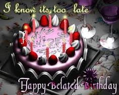 Image result for belated happy birthday new images