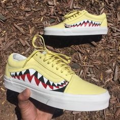 Shop — vintagewavez Yellow Vans, White Vans, Nike Cortez Blue, Rainbow Vans, Nba Bulls, Vans Shoes Fashion, Rose Vans, Vans Slides, Vans Checkered