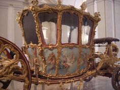 Not really a personal possession, nevertheless this is Marie Antoinette's breathtaking wedding carriage.