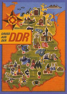 DDR East Germany map