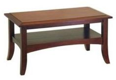 Wood Coffee Table End Tables Home Decor Office Furniture Walnut Crafted House