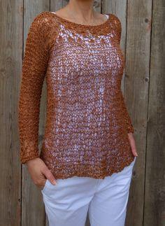 Positano Top Knitting pattern by CamexiaDesigns Christmas Knitting Patterns, Sweater Knitting Patterns, Knitting Yarn, Knitting Sweaters, Knitting Ideas, Ribbon Yarn, Summer Sweaters, Lace Sweater, Dress Gloves