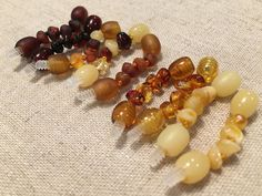 1.5 Inch Polished or raw Baltic Amber OR Hazelwood extender works on hazelwood necklace or bracelet, baby, child, adult - when clasped.