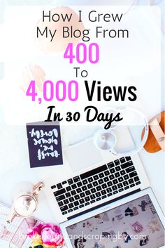 Are you struggling to grow your blog traffic? I went from 400 to 4,000 page views in my second month blogging! And I'm going to show you how!