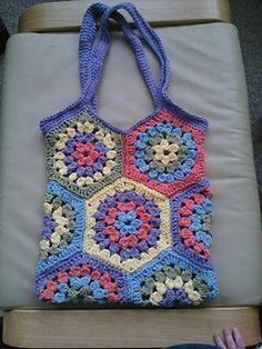 Hexagon market bag.. on ravelry, free