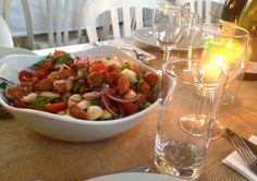 Butterbean and chorizo salad