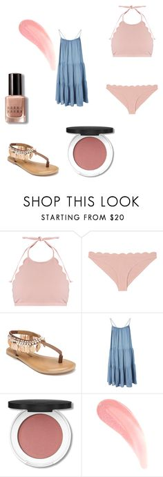 """Untitled #77"" by lejlasehic ❤ liked on Polyvore featuring Marysia Swim, Penny Loves Kenny, Topshop and Bobbi Brown Cosmetics"