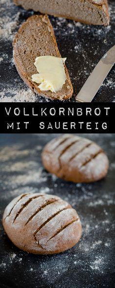 Vollkornbrot mit Sauerteig - www.kuechenchaotin.de