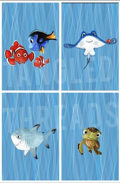 Nemo Squirt Panel – Tangled Threads Buy Fabric, Tangled, Turtle, Snoopy, Disney Characters, Art, Art Background, Turtles, Rapunzel
