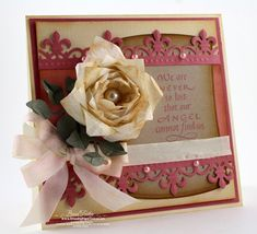 A Video From Becca Feeken At amazingpapergrace.com Titled Folded Rose. She Explains On Her Blog How She Made The Absolutely Stunning Card And The Video Is A Tutorial For Making The Gorgeous Rose.