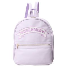 DREAMER BACKPACK (135 PLN) ❤ liked on Polyvore featuring bags, backpacks, accessories, fillers, purple, backpacks bags, purple backpack, day pack backpack, purple bag and knapsack bag