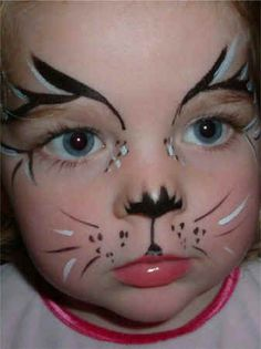 Kitty Cat Face Painting Ideas | All Face Painting, Body Painting, and Special Effects Images on this ... #facepaintingideas