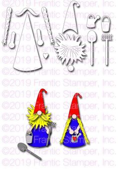 Frantic Stamper Precision Die - Folksy Gnome-The Nisse or Tomte, are Nordic gnomes popular in legends especially a Christmas time. In Scandinavian lor Pinecone Crafts Kids, Pine Cone Crafts, Diy For Kids, Crafts For Kids, Girl Gnome, Kids Christmas, Christmas Ornaments, Reindeer Face, Tiny Tags