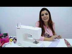 Aprenda Como fazer uma Tiara Dupla Face - YouTube Sewing, Youtube, Double Headband, How To Make Tiara, Head Bands, Molde, Flower, Log Projects, Dressmaking