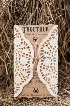 Amazing rustic country style wedding in a barn with cute details and elegant decorations<br> Country Wedding Invitations, Laser Cut Wedding Invitations, Rustic Invitations, Wedding Stationary, Invites, Quince Invitations, Invitation Ideas, Invitation Templates, Rustic Country Wedding Decorations
