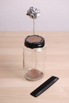 Build an electroscope, a simple device that measures static electricity, or the freely flowing electrical charges of the atmosphere!