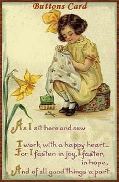 My Sewing Room, Sewing Art, Sewing Crafts, Sewing Projects, Images Vintage, Vintage Cards, Vintage Postcards, Couture Vintage, Vintage Sewing Machines