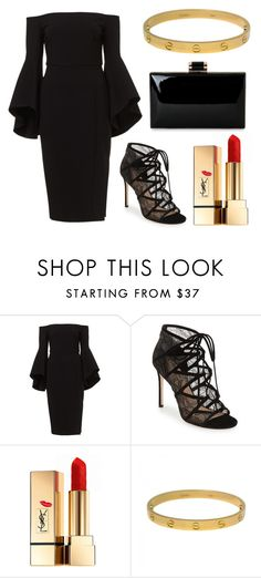 """Kiss"" by catmlnguyen on Polyvore featuring Pour La Victoire, Yves Saint Laurent and Cartier"
