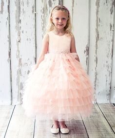 Pink Tiered Ruffle Dress - Toddler & Girls