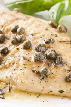 Quick and Easy Healthy Capers and Halibut Dinner Recipe with olive oil, white wi… - seafood recipes Fish Recipes, Seafood Recipes, Dinner Recipes, Cooking Recipes, Healthy Recipes, Cooking Fish, What's Cooking, Fish Dishes, Seafood Dishes