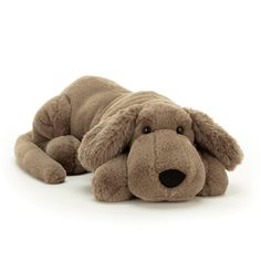 This is the large version of 'Henry Hound' by Jellycat. Perfect for hound fans. Coming with a super soft, mid brown coloured fur body, fluffy floppy ears, long tail and the traditional rumpled hound dog fur, together with those cute hound dog looks! Sky Blue Eyes, Jellycat, Hound Dog, Baby Kind, Plush Animals, Stuffed Animals, Toot, Unisex, Snuggles