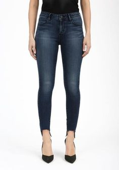 Articles of Society Ankle Skinny Odessa dark wash denim. Revolutionary to its kind, Articles of Society has adopted a unique role in the premium denim industry as the first brand to offer consumers superior jeans at a Hem Jeans, Denim Skinny Jeans, Dark Denim, Blue Denim, Light Denim, Articles Of Society Jeans, Mustard Sweater, Denim Branding, Petite Women