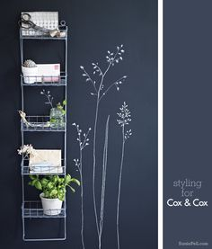 Looks like this is chalk on chalkboard paint wall, but would make a nice and simple wall stencil or decal