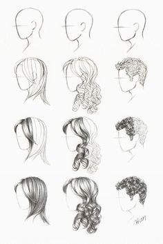 How to draw girl AND guy hair
