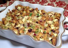 Apple Cranberry Stuffing....Nutritious, Delicious and Gluten Free.... By:  Southern Girl Eats Clean