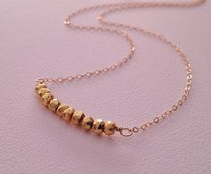 Pyrite Necklace in Gold Marcasite Necklace by TangerineCrimeScene, $30.00