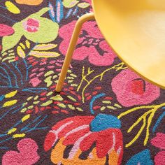 Bold + Bright | @Dash and Albert Rug Company Hot House Winter Wool Micro Hooked Rug #zincdoor #rug #bright
